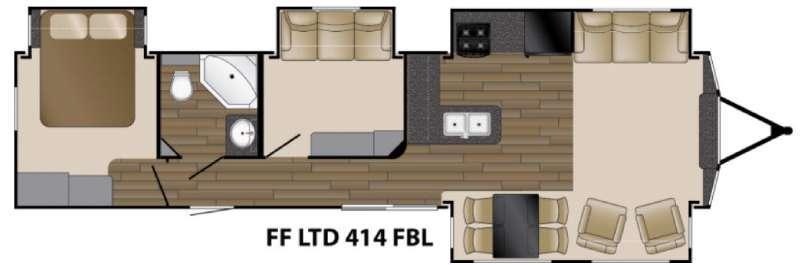 Floorplan - 2016 Heartland Fairfield Limited 414FBL