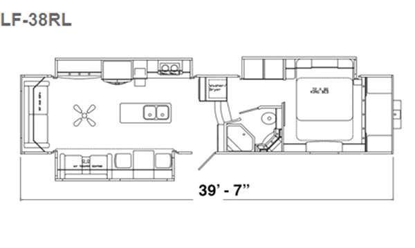 Floorplan - 2016 Augusta RV LUXE LF-38RL