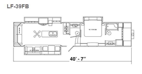 Floorplan - 2016 Augusta RV LUXE LF-39FB