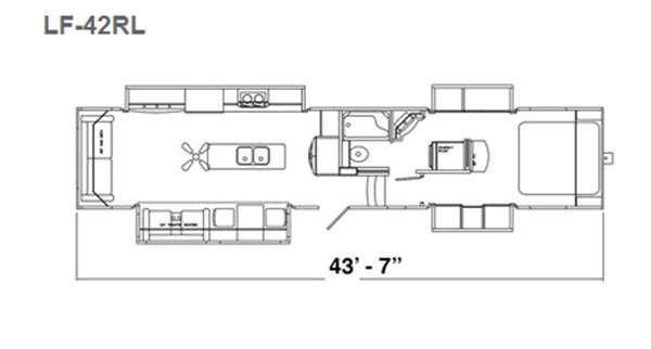 Floorplan - 2016 Augusta RV LUXE LF-42RL