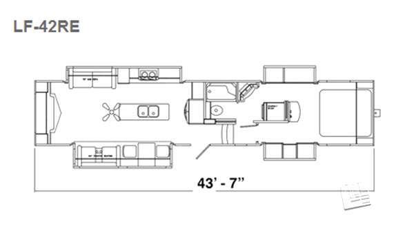 Floorplan - 2016 Augusta RV LUXE LF-42RE