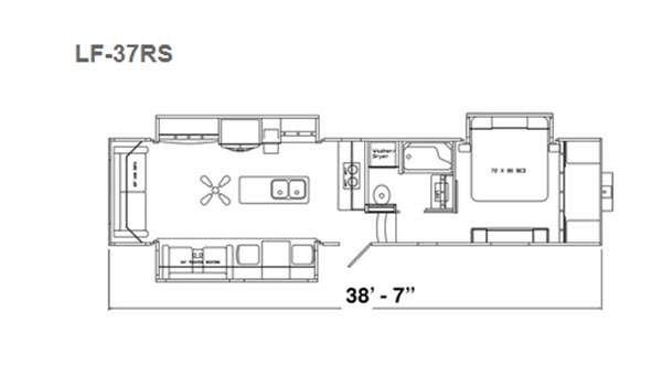 Floorplan - 2016 Augusta RV LUXE LF-37RS