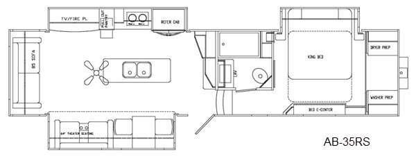 Floorplan - 2016 Augusta RV Ambition AB-35RS
