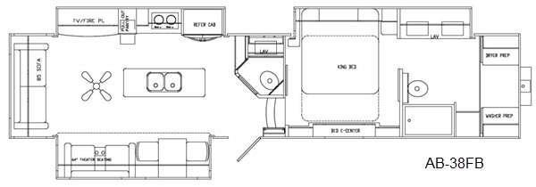 Floorplan - 2016 Augusta RV Ambition AB-38FB