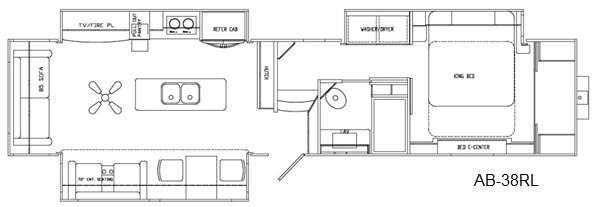 Floorplan - 2016 Augusta RV Ambition AB-38RL