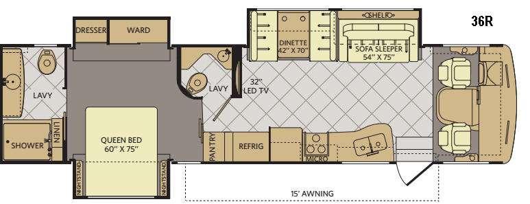 Terra 36R Floorplan Image