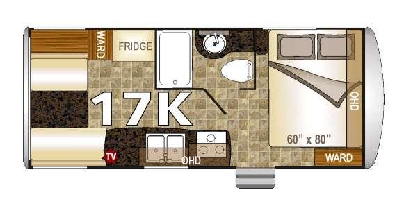 Floorplan - 2016 Northwood Nash 17K