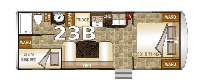 Floorplan - 2016 Northwood Nash 23B