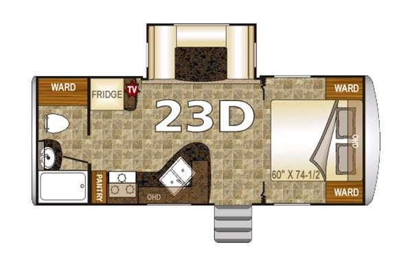 Floorplan - 2016 Northwood Nash 23D