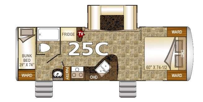 Floorplan - 2016 Nash 25C Travel Trailer
