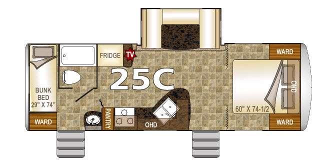 Floorplan - 2016 Northwood Nash 25C