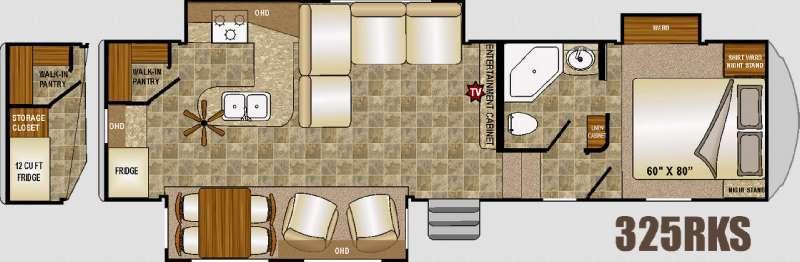 Floorplan - 2016 Northwood Fox Mountain 325RKS