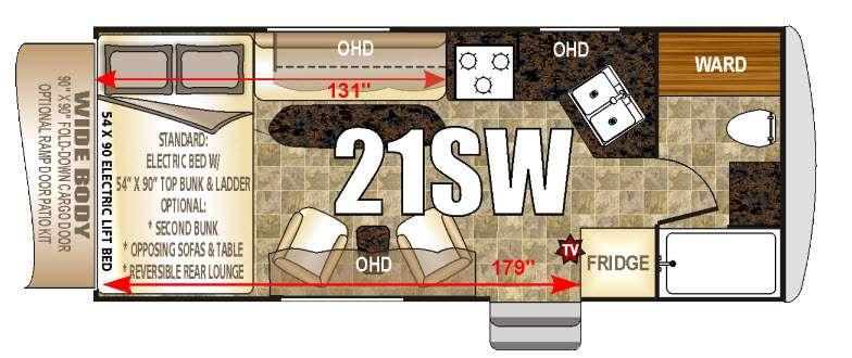 Floorplan - 2016 Northwood Desert Fox 21 SW