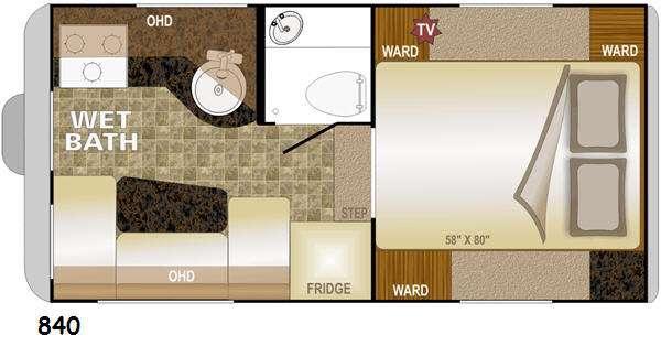 Floorplan - 2016 Northwood Wolf Creek 840