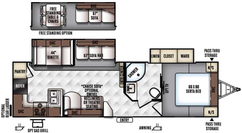 Floorplan - 2016 Forest River RV Rockwood Ultra Lite 2902WS