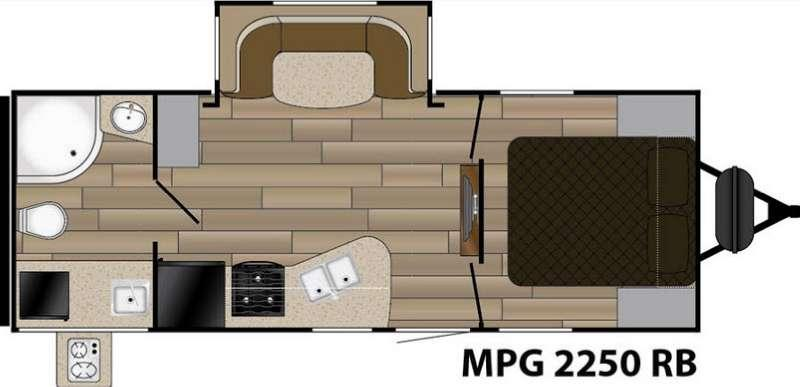 Floorplan - 2016 Cruiser MPG 2250RB
