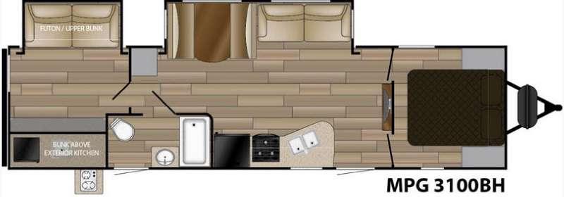 Floorplan - 2016 Cruiser MPG 3100BH