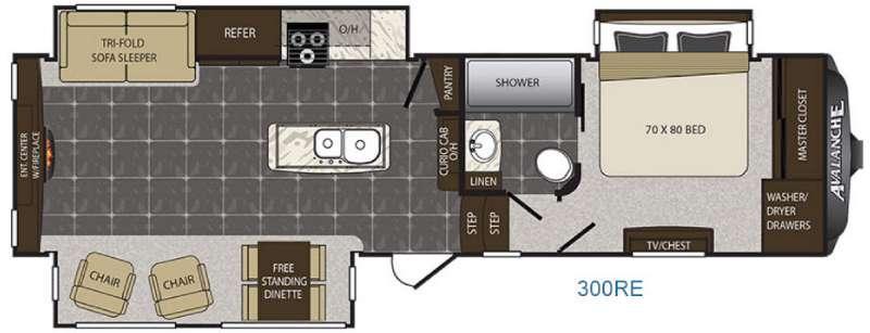 Avalanche 300RE Floorplan Image