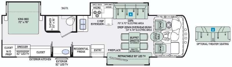 Challenger 36TL Floorplan Image