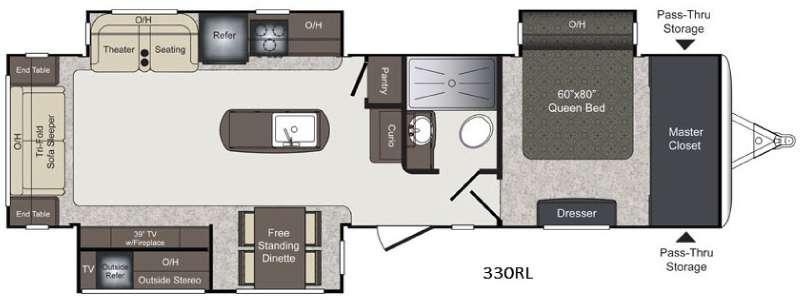 Floorplan - 2016 Keystone RV Laredo 330RL