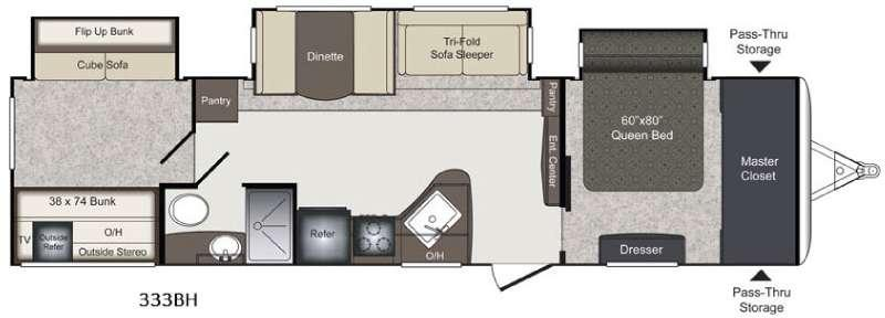 Laredo 333BH Floorplan Image