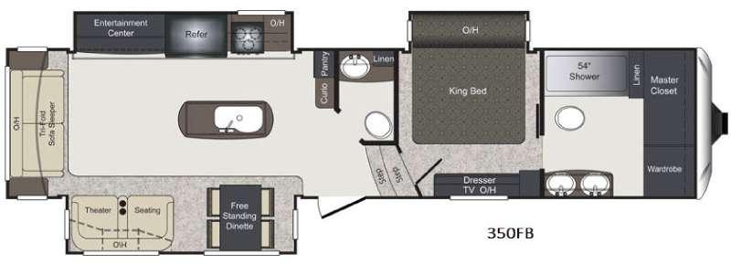 Floorplan - 2016 Keystone RV Laredo 350FB