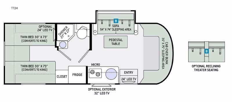 Floorplan - 2016 Thor Motor Coach Synergy TT24