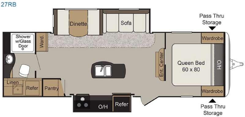 Floorplan - 2016 Keystone RV Passport 27RB