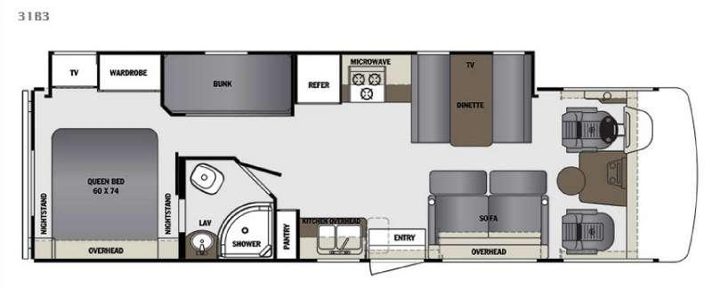 Floorplan - 2016 Forest River RV Georgetown 3 Series 31B3