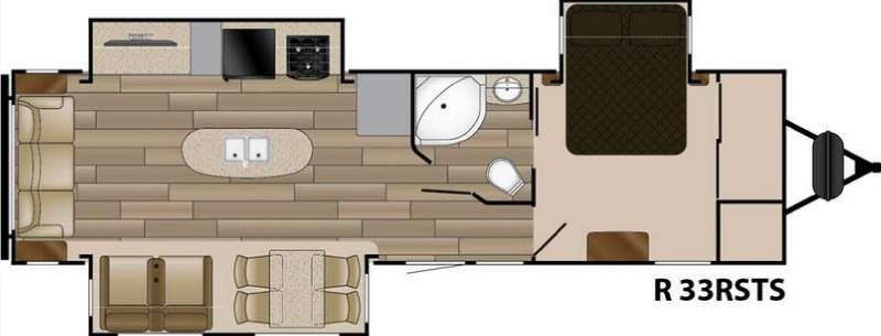 Floorplan - 2016 Cruiser Radiance Touring R-33SSTS
