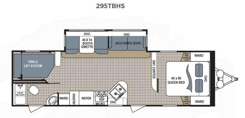 Floorplan - 2016 Dutchmen RV Kodiak Ultimate 295TBHS