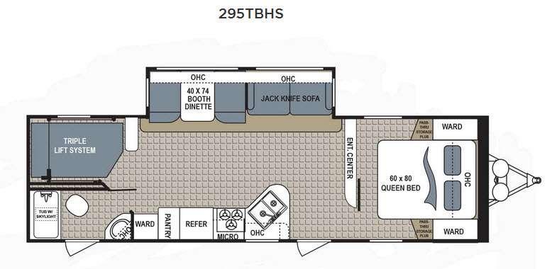 Floorplan - 2016 Dutchmen RV Kodiak Ultimate 295TBHS