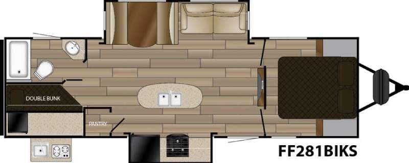 Floorplan - 2016 Cruiser Signature Edition F-281BIKS