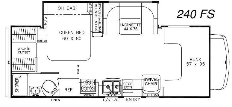 Floorplan - 2016 Coachmen RV Leprechaun 240FS Ford 450