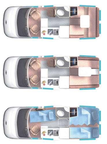 Floorplan - 2016 Roadtrek Popular 210