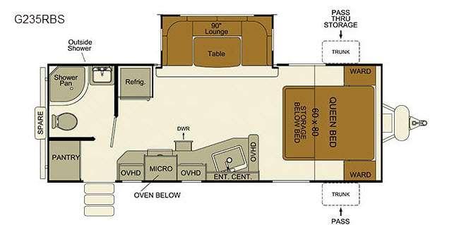 Floorplan - 2016 EverGreen RV i-Go G235RBS