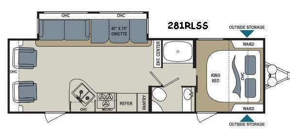 Floorplan - 2016 Dutchmen RV Aerolite 281RLSS