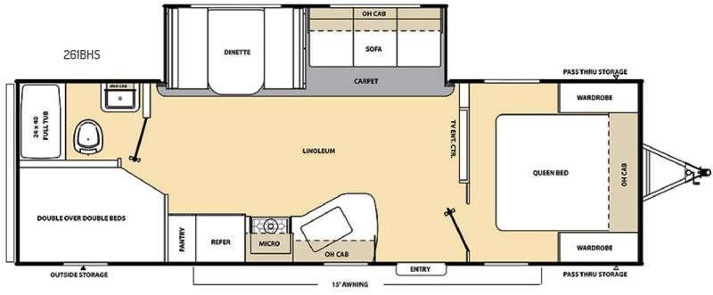 Floorplan - 2016 Coachmen RV Catalina SBX 261BHS