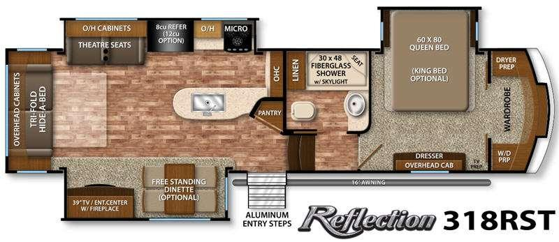 Floorplan - 2016 Grand Design Reflection 318RST