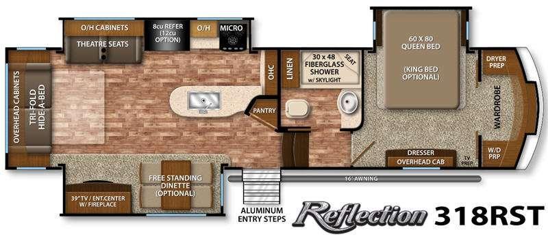 Floorplan - 2016 Grand Design Reflection 318RST