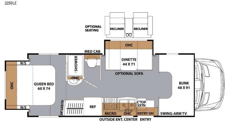 Floorplan - 2016 Coachmen RV Prism 2250 LE