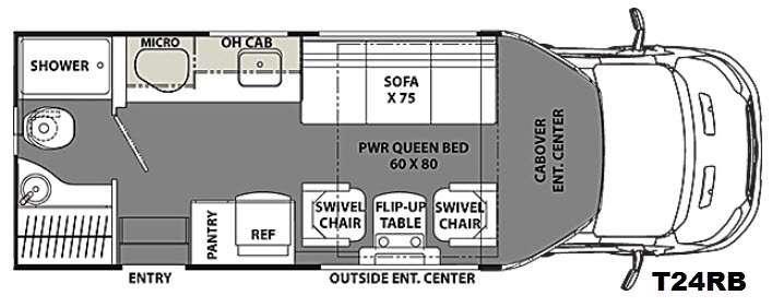 Floorplan - 2016 Coachmen RV Orion T24RB