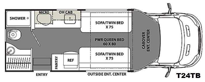 Floorplan - 2016 Coachmen RV Orion T24TB