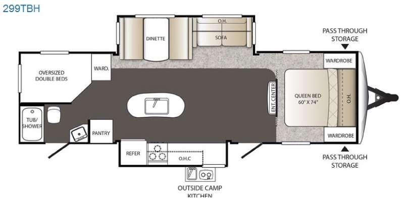 Outback 299TBH Floorplan Image