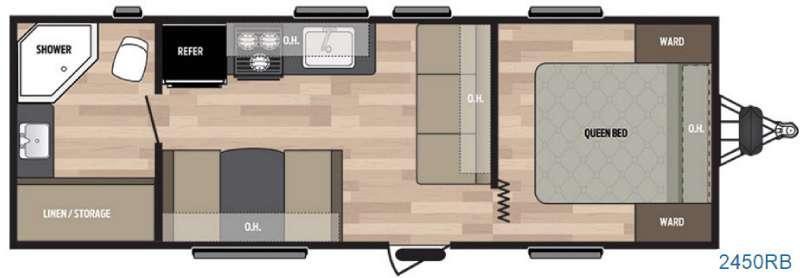 Floorplan - 2016 Keystone RV Summerland 2450TB