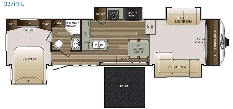 Floorplan - 2016 Keystone RV Cougar 337PFL