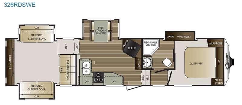 Floorplan - 2016 Keystone RV Cougar 326RDSWE