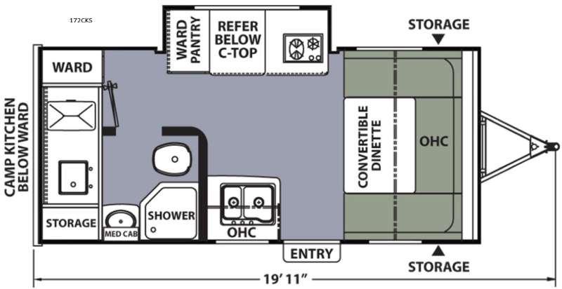 Floorplan - 2016 Coachmen RV Apex Nano 172CKS