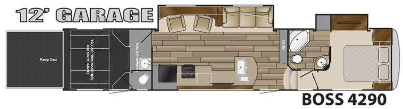 Floorplan - 2016 Cruiser BOSS 4290