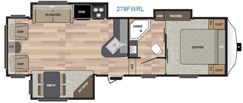 Floorplan - 2016 Keystone RV Springdale 278FWRL